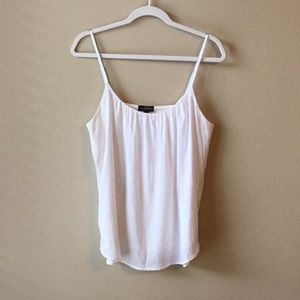 The Limited White Dotted, Flowy Camisole
